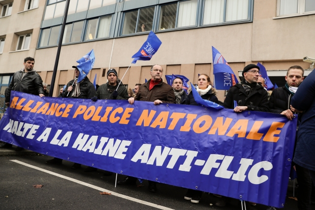 FRANCE-POLICE-POLITICS-UNION-PROTEST